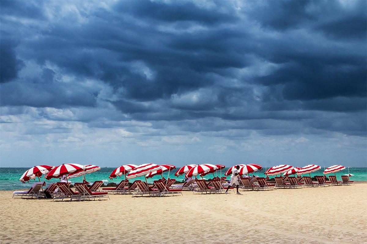 Miam Beach Umbrellas